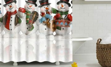 £8.99 (from Domo Secret) for a Christmas design shower curtain
