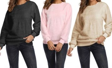 £11.99 instead of £33.99 (from SpeZ Zee) for a women's fluffy long sleeve jumper - save 56%