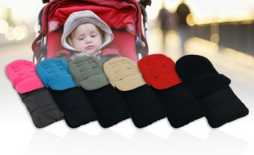 £9.99 (from For Your Little One) for a premium padded fleece-lined footmuff – choose from three colours