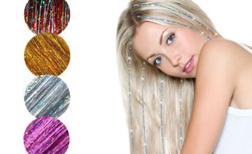 £3.99 instead of £24.95 for Pack of 5 Hair Tinsel Bundle - 9 Colour Choices! from Forever Cosmetics - save 84%