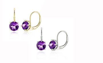 £4 for a pair of amethyst earrings - choose from two colours from Evoked Design