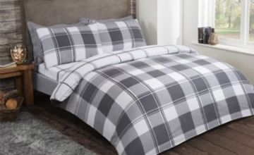 £14.99 instead of £50 (from Cascade Home) for a single brushed cotton grey Boston duvet set, £18.99 for a double and £23.99 for a king size – save up to 70%