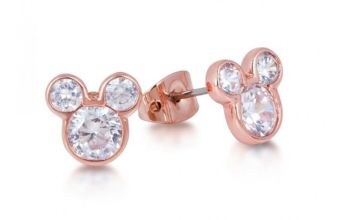 £3.99 for a pair of rose gold triple crystal mouse earrings from Solo Act Ltd - save 83%