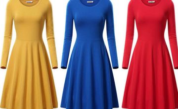 £7.99 instead of £29.99 (from hey4beauty) for a round neck pleated midi dress - save 73%
