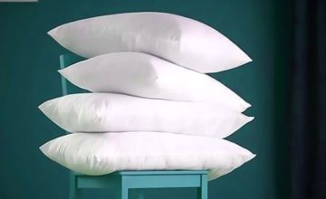 £16.99 instead of £79.99 (from Fusion Online) for four luxury goose feather and down pillows – save 79%