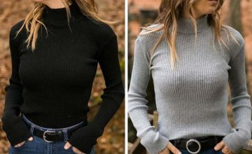 £11 instead of £29.99 (from Pink Pree) for a knitted turtleneck sweater - choose from four colours and save 63%