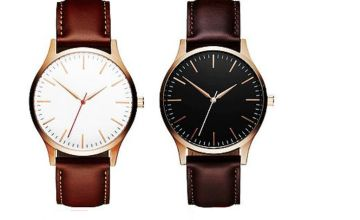 £8.99 instead of £29 for a men's leather strap watch - choose from two colours from Solo Act Ltd - save up to 69%