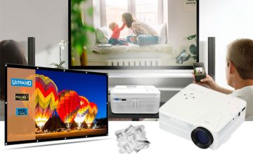 £19.99 instead of £59.99 (from WowWhatWho) for a home cinema screen only, £34.99 for the projector or £49.99 for both - save up to 69%