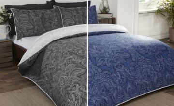 From £12 instead of £45 (from Cascade Home) for a Heritage damask duvet set - choose from three sizes and save up to 73%