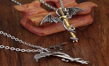 From £1.99 for a 1 or 2 Myths and Legends Dragon Sword Necklace! from Forever Cosmetics - save up to 80%