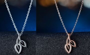 £12 instead of £49 for a Double Leaf Crystal Necklace - 2 Colours to choose from Genova International Ltd - save 76%
