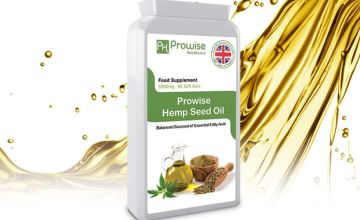 £9.99 (from Powise Healthcare) for a 45 day supply* of hemp seed oil capsules