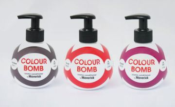 £7 (from Maverick) for a colour bomb creme conditioner – choose from seven shades