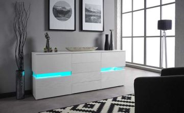£139 instead of £469.01 (from SofaMio) for a high gloss LED sideboard – save 70%