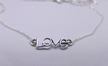 £3.99 instead of £30 (from PearlShed) for a 'Love' pendant necklace – save 87%