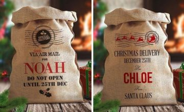 £11.99 instead of £29.99 (from Dinkleboo) for a hessian Christmas sack – save 60%