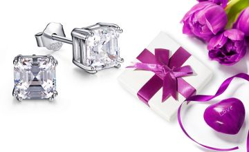 £5.99 (from Sreema London) for a pair of 925 Sterling Silver Asscher cut earrings