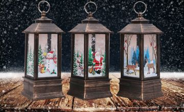 £6.99 instead of £19.99 (from MBLogic) for a Christmas lantern, £11.99 for a set of two, or £18 for a set of four - choose from six designs and save up to 65%