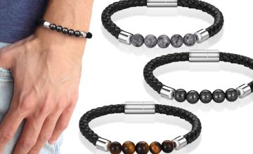 £6.99 instead of £16 (from Philip Jones) for a men's leather magnetic bracelet – save 56%