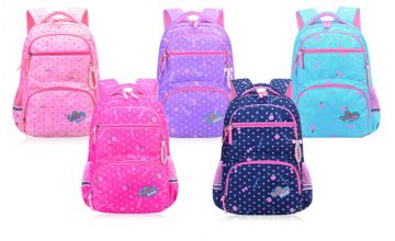 £14 instead of £49.99 (from Wish Imports) for a medium children's waterproof backpack, £15 for a large size – choose from blue, purple, pink, light blue and rose red and save up to 72%