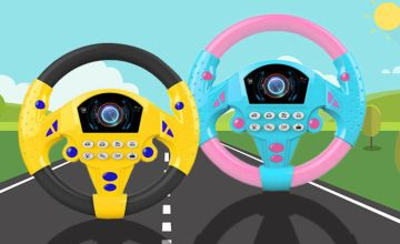 £7.99 instead of £19.99 (from WowWhatWho) for a music stimulation driving steering wheel toy - save 60%