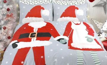 £12.99 (from Five Minutes More) for a single Boy or Girl Dress Up Christmas duvet cover set, £16.99 for a double couple set