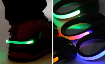 £2.99 instead of £19.99 (from Hey 4 Beauty) for one night safety LED shoe light,  £3.99 for a pack of two lights – choose from 16 colour options and save up to 85%