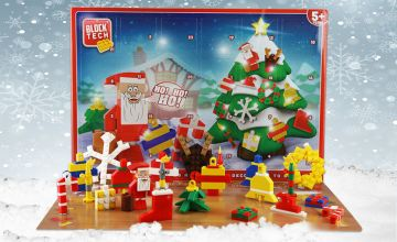 £6.99 instead of £39.99 (from Gift Gadget) for a Block Tech Christmas winter scene advent calendar – count down to Christmas with little toy models and save 83%