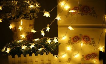 £4.99 (from WowWhatWho) for a 3m string of LED lights, £7.99 for two strings, or £9.99 for four strings!