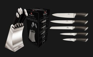 £29.99 instead of £79.99 (from J&Y Distribution) for a Berlinger Haus six-piece stainless steel kitchen knife set - save 63%