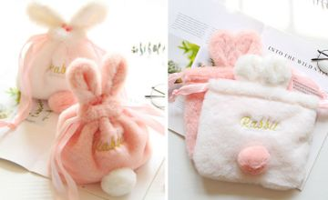 £5.99 instead of £37 (from Magic Trend) for a rabbit cosmetic drawstring bag - save 84%