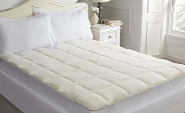 £21.99 (from Cascade Home) instead of £45 for a single luxury teddy bear fleece mattress enhancer, £25.99 for a double and £30.99 for a king - save up to 51%