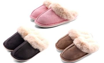 £11.99 instead of £27 (from Magic Trend) for a pair of suede mule slippers - choose from three colours and save 56%