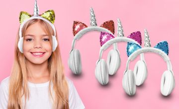£9.99 instead of £37 (from Magic Trend) for a pair of children's magical unicorn headphones – choose from four colours and save 73%