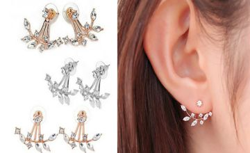 £4.99 instead of £15 for a crystal leaf drop earrings from Solo Act Ltd - save 67%