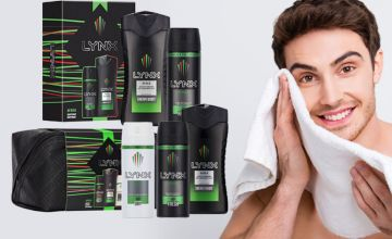 £4.99 instead of £16.99 (from Avant Garde) for a Lynx Africa duo gift set, £8.99 for two Lynx Africa duo gift sets, £11 for a Lynx Africa washbag gift set or £15.99 for two Lynx Africa washbag gift sets - save up to 71%