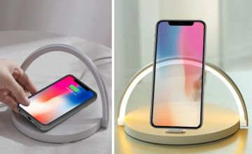 £12.99 instead of £49.99 (from Litnfleek) for a three-in-one wireless charger, lamp and phone stand - choose from two colours and save 74%