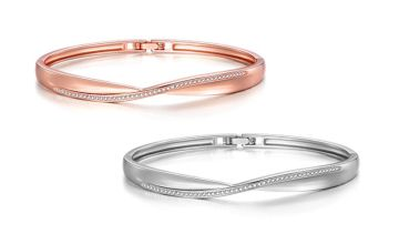 £10.99 instead of £22 (from Philip Jones) for an arc bangle made with Crystals from Swarovski ® - save 50%