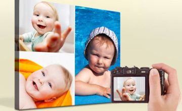 From £3.99 instead of £12.95 (from Printerpix) for a canvas photo collage print - save up to 69%
