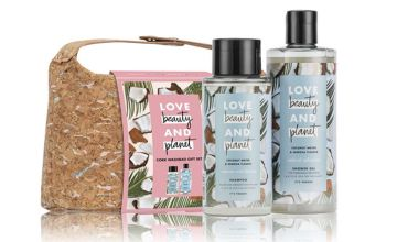 £13.99 instead of £30.99 (from Avant Garde) for a Love Beauty & Planet 'Fairly Farmed' cork wash bag gift set, £25.99 for two - save up to 55%