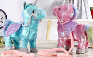 £12.99 instead of £39.99 (from Litnfleek) for an electric walking glitter unicorn - save 68%