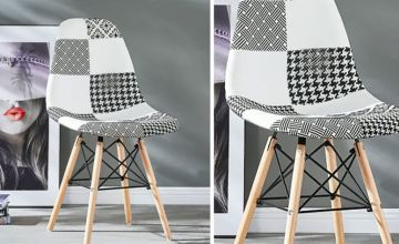 £34 instead of £65.01 (from Home Design International) for one black and white patchwork chair, £64 for two chairs or £119 for four chairs - save up to 48%