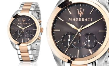 £189 instead of £596 (from Best Watch Company) for a Maserati 8873612003 men's two-tone stainless steel watch - save 68%