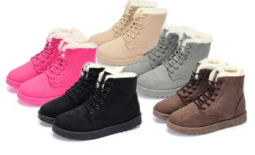 £11.99 instead of £29.99 (from hey4beauty) for a pair of faux fur lace-up snow boots - save 60%