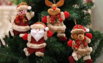 £5.99 instead of £59.99 (from Wish Imports) for a pack of four hanging Christmas pendants - save 90%