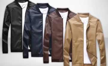 £14.99 instead of £59.99 (from DomoSecret) for a men's PU leather jacket - choose from four colours and save 75%