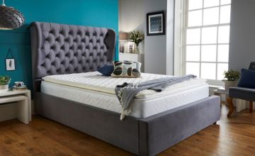 From £279 instead of £769.01 (from Sleep Express) for a single grey wingback bed frame - Choose your size and save up to 64%