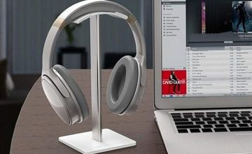 £6.99 (from MBLogic) for a metal headphone stand - choose from two colours