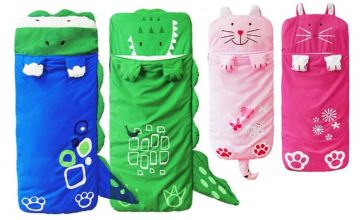 £14 instead of £59.99 (from Wow What Who) for a kid's animal sleeping bag - choose your colour and save 77%