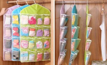 £4.99 (from Wish Imports) for a hanging storage bag with 16 compartments